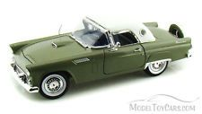 1956 Ford Thunderbird Green Motormax 73176 1/18 Scale Diecast Model Toy Car