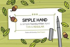 Simple Hand handwritten font by Side Project on @creativemarket