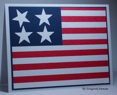 Handmade 4th Of July Card From Seongsooks Creations Classic Red White And