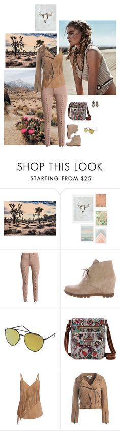 """2017: Desert Rose"" by rockerchick21 ❤ liked on Polyvore featuring DENY Designs, Prada Sport, Quay, Sakroots, Gestuz, Sans Souci and Red Camel"