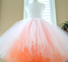Kids girls Custom Made Two Color Layered Basic Tutu Dress flower girl birthday special occasion by 1583Designs,