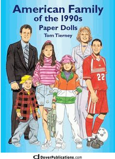 American Family of the 1990s Paper Dolls