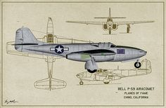Bell P-59a Airacomet Digital Art - Planes Of Fame A-59 Airacomet - Profile by Tommy Anderson