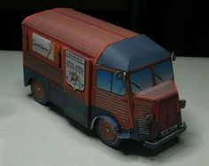 "Citroen HY Les Caves Vinicoles Paper Model - by Pascal 6733 & Camille - == -  This very well done paper model of the vintage French van Citroen HY was created by designer Camille and this ""Les Caves Vinicoles"" version was made and built by French designer Pascal 6733."