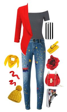 """""""Bright eyes"""" by potterhead640 on Polyvore featuring Miss Selfridge, Alice + Olivia, Vans, Goyard, Topshop and LE3NO"""
