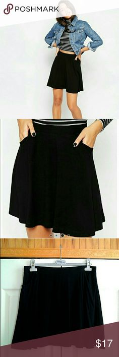 ASOS Skater Skirt With Pockets In good condition. No rip, stains, pull or snag. Goes perfectly well with booties or over the knee boots. ASOS Curve Skirts Mini