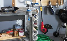 diy pvc pipe projects   20 Ways to Organize Using PVC Pipes - Upcycled Treasures