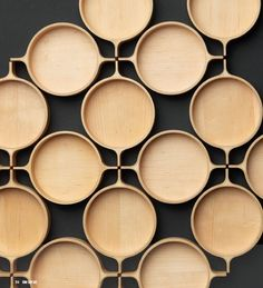 Maple tops & bridges form a dining table by Korean designer Kim Sun Tae. via…