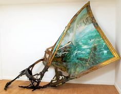 Valerie Hegarty illustrates what would have happened to famous masterpieces if they were say, left out in the woods to get destroyed by woodpeckers, or tossed over a waterfall.