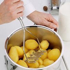 KCASA KC-PS014 Stainless Steel Potato Mud Press Machine Vegetable Rice Masher Crusher Kitchen Tools