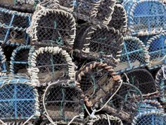 size: Photographic Print: Lobster Pots in Fishing Harbour at Loguivy, Cote De Granit Rose, Cotes d'Armor, Brittany, France by David Hughes : Subjects Fine Art Prints, Framed Prints, Canvas Prints, Framed Wall, Brittany France, Photographic Prints, Gifts In A Mug, Poster Size Prints, Fine Art Paper