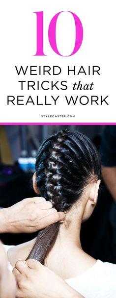 10 Weird Hair Tips & Tricks that REALLY work. | #7: DIY dry shampoo for dark hair (no more white residue!)