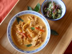 Thai Red Curry Chicken is a colorful dish that combines fresh ingredients and aromatic herbs over a classic mix of spices and mellowed with rich coconut milk. Be sure to serve with the traditional accompaniment, Thai Cucumber Salad, as a refreshing side dish. Made in 30 minutes, Thai Red Curry Chicken is perfect for a …