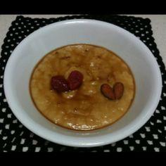 Natillas-flan de manzana.