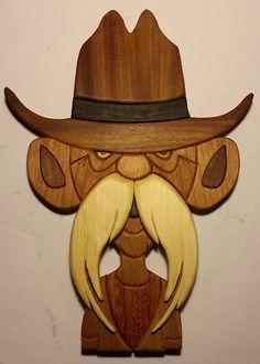 Taracea de madera: hombre