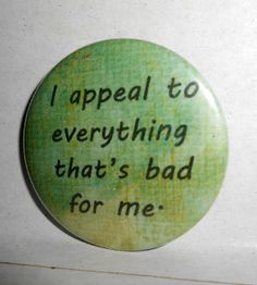 BUTTONS PINS BADGES Custom Made Bad Appeal by briansblazingBUTTONS, $1.50