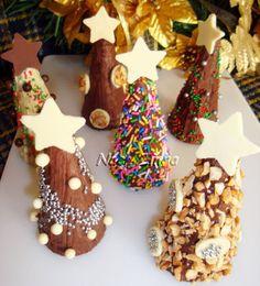 Cones de natal com casquinha de sorvete
