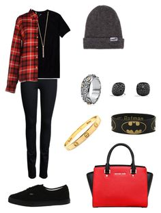 Sin título #1192 by danareyesguido on Polyvore featuring moda, Aspesi, Wilfred Free, ONLY, Vans, MICHAEL Michael Kors, David Yurman, ALDO, Shashi and Neff