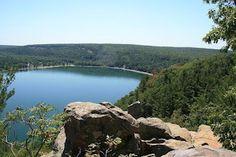 Camping at Devil's Lake, Wisconsin