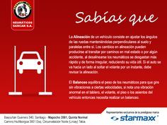 ¿Sabes en qué consisten la alineación y balanceo de un vehículo? Te esperamos en Mapocho 3581, #QuintaNormal con el mejor servicio para tu auto.  #Sancar #Starmaxx #Alienación #Balanceo #ServicioTécnico #Talca