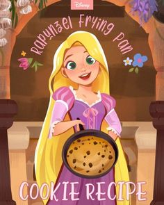 Cook Like Rapunzel With This Frying Pan Cookie Recipe Disney World Parks, Disney World Planning, Walt Disney World Vacations, Disney Tangled, Disney Princess, Biscuits, Pan Cookies, Harry Potter Room, Rapunzel