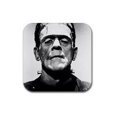 "Frankenstein Rubber Square Coaster set (4 pack) Great Gift Idea by MYDply. $4.95. This 4 pack of 3.75"" x 3.75"" square rubber coasters of the image shown are made of a durable heat-resistant polyester fabric top, backed with a neoprene rubber non-slip backing, keeps things from sliding. The rubber coasters are 1/8"" thick. It will not discolor or fade, machine washable."