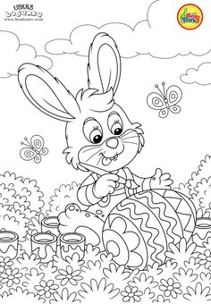 Easter coloring pages - Uskrs bojanke za djecu - Free printables, Easter bunny, eggs, chicks and more on BonTon TV - Coloring books Easter Bunny Colouring, Easter Egg Coloring Pages, Coloring Sheets For Kids, Animal Coloring Pages, Coloring Book Pages, Easter Paintings, Disney Princess Coloring Pages, Printable Adult Coloring Pages, Bunny Crafts
