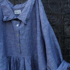 Grey Stone Washed Linen Dresss by MegbyDesign on Etsy