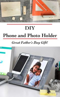 Easy Handmade Father's Day gift idea | Gift for desk | DIY phone and photo holder