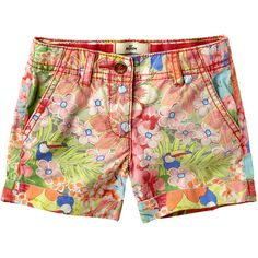 Guava Jam Floral Shorts Infant, Toddler Girls ($15) ❤ liked on Polyvore featuring shorts
