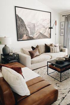 Masculine Living Rooms, Beige Living Rooms, Living Room Decor Cozy, Home Living Room, Living Room Designs, Cream Living Room Furniture, Black And Cream Living Room, Decoration, Modern Minimalist Living Room