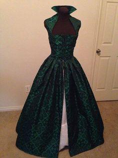 Renaissance-Celtic-Brocade über Kleid ohne Ärmel lila von desree10