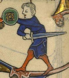 Boulogne-sur-Mer BMMS.131, 1280-1300, France. Reactangular boss, bronze? gildened? just the manuscript?