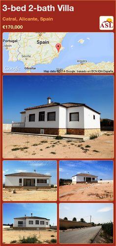 3-bed 2-bath Villa in Catral, Alicante, Spain ►€170,000 #PropertyForSaleInSpain