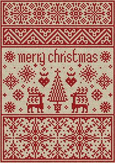 Small Christmas Sampler - Cross-stitch PDF Pattern