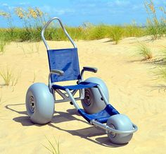 Custom Beach Wheelchair- Sand Rider, the new, stylish Beach Wheelchair