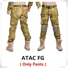 Camouflage Tactical Pants with Knee Pads - 7 Colors - M - XXXL
