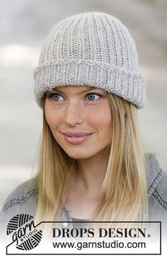 Warm whish / DROPS - free knitting patterns by DROPS design Free knitting instructions Knitting , lace processing is essentially the most beautiful hobbies that females are unable . Knitting Basics, Knitting For Beginners, Knitting Patterns Free, Free Knitting, Knit Crochet, Crochet Hats, Drops Design, Knit Beanie, Hats For Women