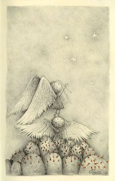 This is the online world of a little mexican artist living in her own little corner of Chicagoland. Angel Drawing, Mexican Artists, Angel Art, Vintage Artwork, Cute Illustration, Art Illustrations, Beautiful Paintings, Cool Drawings, Art For Kids