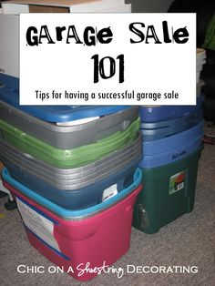 How to Have a Successful Garage Sale! after hanging out with Bellows at her garage sale today, i'm tempted to start compiling things to have one myself. (perhaps after the wedding or next spring to declutter) Garage Sale Organization, Garage Sale Tips, Hang Clothes Garage Sale, Organization Ideas, Garage Sale Pricing, Garage Ideas, Garage Storage, Sell Your Stuff, Things To Sell