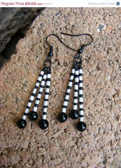 ON SALE Totally Black and White Earrings by MultiPolarity