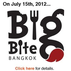Thanks to bangkok-places-to-try.... Big Bite Bangkok      Big Bite Bangkok, Encouraging Communal Spooning  Big Bite Bangkok is a series of outdoor markets featuring the best of the citys small-scale artisanal food producers.    Food lovers from around the city come to taste, mingle, and donate money to charity.    The next event happens on July 15th, 2012 in the parking lot of the Maduzi Hotel