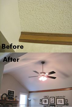 How to remove popcorn ceilings yourself! You can do it!  Not looking forward to this project, but it must be done!