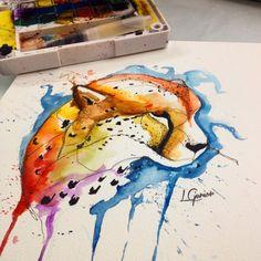Cheetah • guepardo • arte feita para o Michel • #cheetah #cat #watercolor #watercolortattoo #aquarela #aquarelatattoo #espacoalvorada #tatuagem #tattoo #cat #cattattoo #lcjunior #art #arte #draw #paint #painting