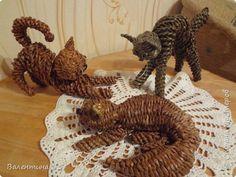 Игрушка Плетение Кошки и мышки Бумага газетная фото 1