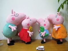 Peppa Pig Family Plush Toy Set 4PCS 28-38cm/11-15 The Peppa Pig family is coming!. The latest set of Peppa Pig is more equisite in processing and better in hand feeling. Made of high quality lint material, healthy and environmental friendly. Suitable for children above 5 years old to play with or used it as pillow/cushion. #Generic #Toy