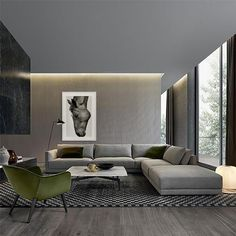 Modern Sofa Design: A Perfect Choice for Your Living Room Masculine Living Rooms, Living Room Modern, Living Room Interior, Living Room Furniture, Living Room Designs, Living Area, Modern Sofa, Interior Livingroom, Living Spaces
