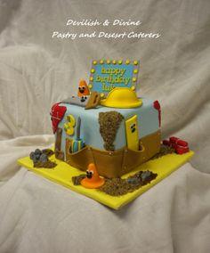 Bob the Builder-themed cake