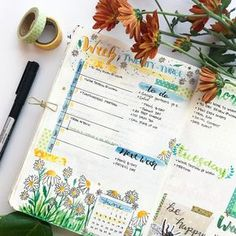 This week: daisies. Still trying to figure out a weekly spread that I love, but also leaves room to be creative.