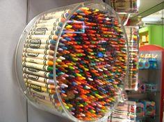 crayon display at Crayola store